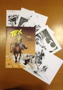 TEX e GLI EROI DEL WEST – Cartellina 5 stampe