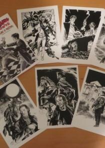Portfolio cartellina 6 stampe A4 – Dylan Dog, Dampyr e altri miti l'incubo si mostra