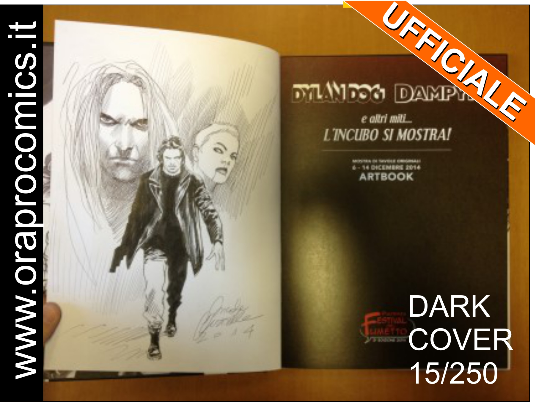 Artbook con disegno originale di Genzianella in asta su EBAY per ORA PRO COMICS MONDAY