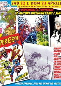Portfolio 12 stampe Super Eroi – Festival del Fumetto 2017