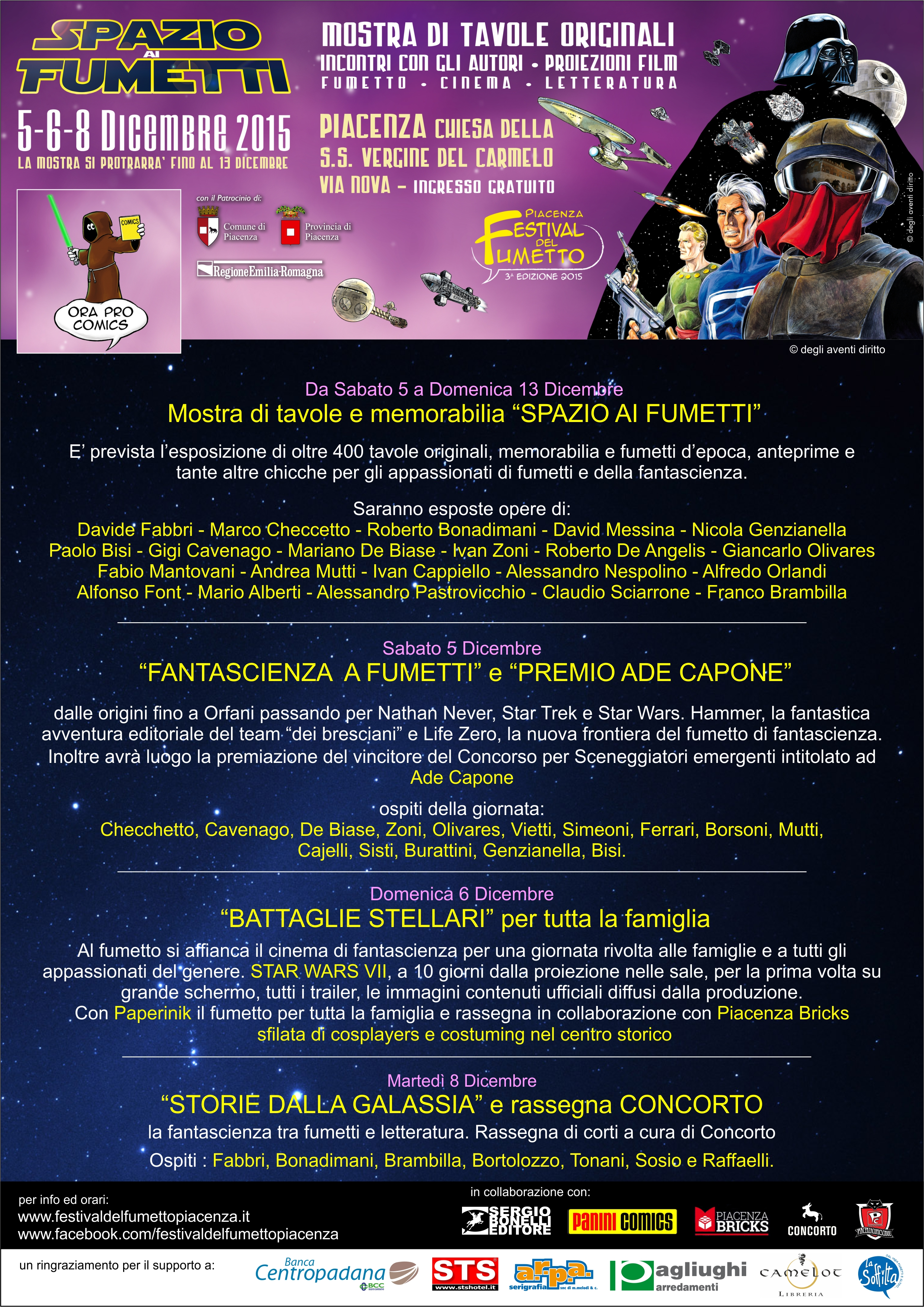Spazio Ai Fumetti programma