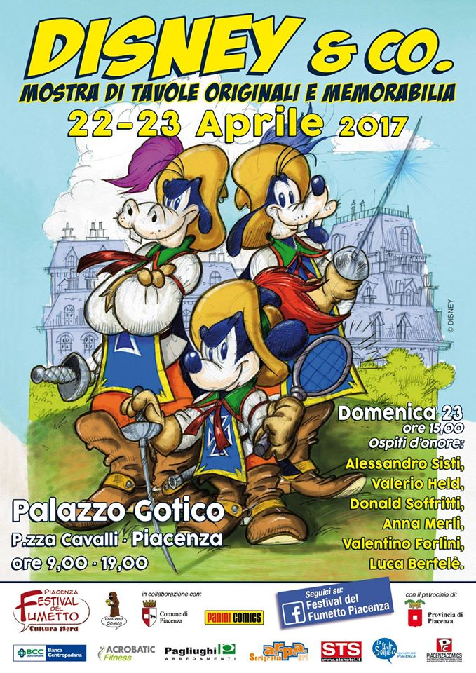 Ecco la locandina del Festival del Fumetto di Piacenza 2017